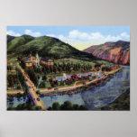 Hotel Colorado S mineral de Glenwood Springs Color Póster