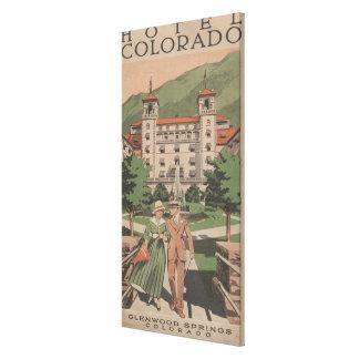Hotel Colorado Travel Poster Canvas Print