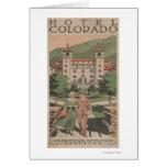 Hotel Colorado Travel Poster Card