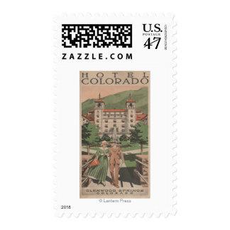 Hotel Colorado Travel Poster Postage Stamp