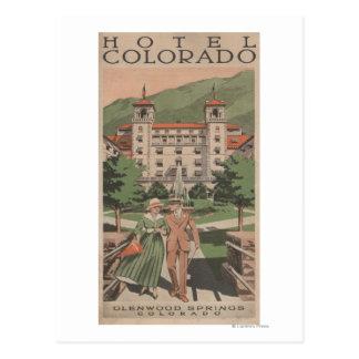Hotel Colorado Travel Poster Postcard