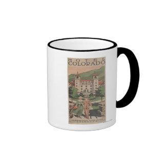 Hotel Colorado Travel Poster Ringer Mug