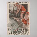 Hotel Colorado y poster de los baños