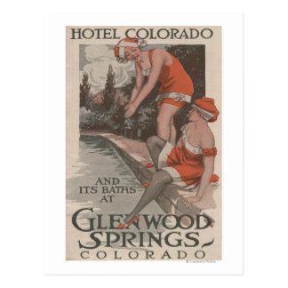 Hotel Colorado y poster de los baños Postales