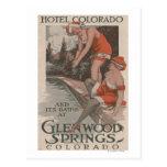 Hotel Colorado y poster de los baños Tarjetas Postales