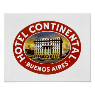 Hotel Continental Buenos Aires Poster