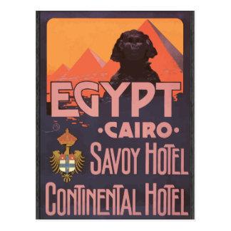 Hotel continental del hotel de col rizada de Egipt Tarjeta Postal