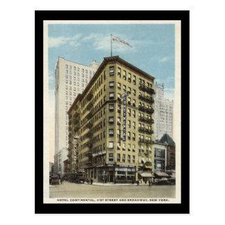 Hotel continental, vintage de los años 20 de New Postal