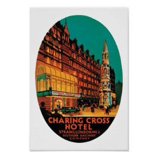 Hotel cruzado de Charing Póster