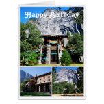 Hotel de Ahwahnee del feliz cumpleaños en Yosemite Tarjeta