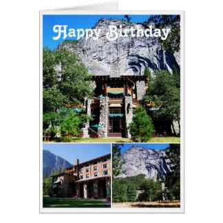 Hotel de Ahwahnee del feliz cumpleaños en Yosemite Tarjeta De Felicitación