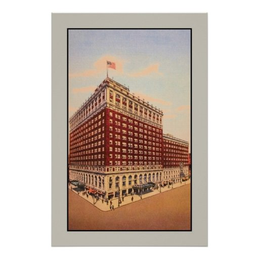hotel de Brown del vintage (Louisville, Kentucky) Poster