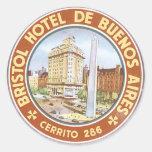 Hotel De Buenos Aires de Bristol Pegatina