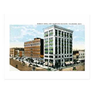 Hotel de Burdick, Kalamazoo, Michigan Postales