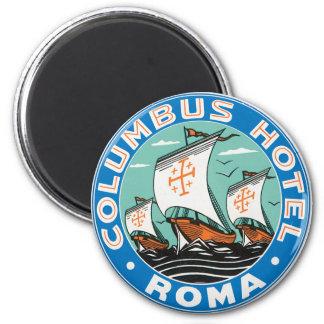 Hotel de Columbus, Roma Imán Redondo 5 Cm