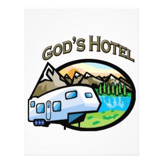 """Hotel de dioses folleto 8.5"""" x 11"""""""