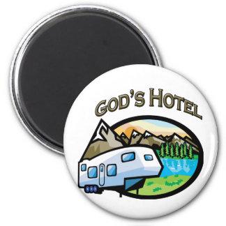 Hotel de dioses imán redondo 5 cm