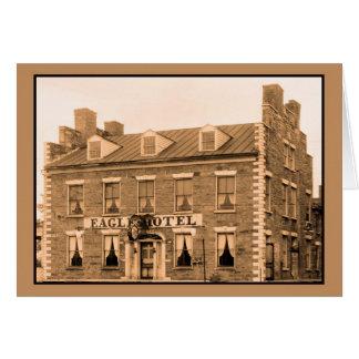 Hotel de Eagle de la foto del vintage, Erie, Water Tarjetas