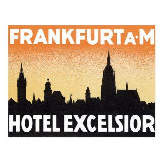 Hotel de Francfort Alemania del vintage Tarjetas Postales