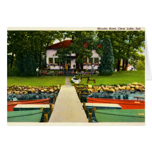 Hotel de Fremont, Indiana Mirador en el lago claro Tarjeta De Felicitación