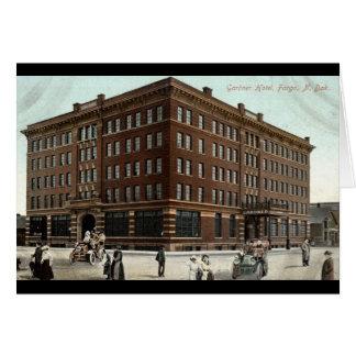 Hotel de Gardner, vintage 1910 del ND de Fargo Tarjeta De Felicitación