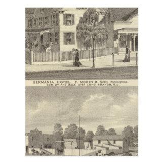 Hotel de Germania, rama larga y hermanos de Hughes Postales