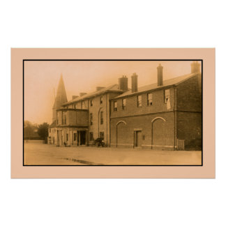 hotel de Grosvenor del vintage Stockbridge coche Poster