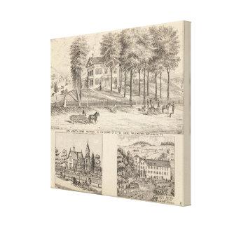 Hotel de Hyde en Wallingford Impresión En Lona