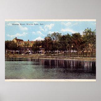 Hotel de Indiana Winona del lago Winona Póster
