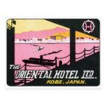 Hotel de Kobe Japón del vintage Postal