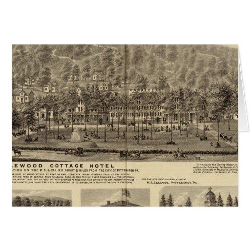 Hotel de la cabaña de Idlewood cerca de Pittsburgh Tarjeta De Felicitación