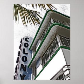 Hotel de la colonia, Miami Póster