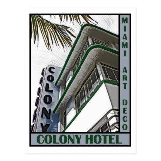 Hotel de la colonia tarjetas postales
