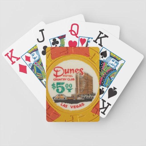 Hotel de la ficha de póker del casino de Las Vegas Baraja De Cartas