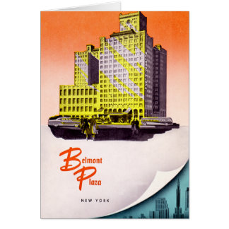 Hotel de la plaza de New York City Belmont Tarjeta De Felicitación