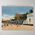 Hotel de la plaza de Roney, vintage de Miami Beach Poster