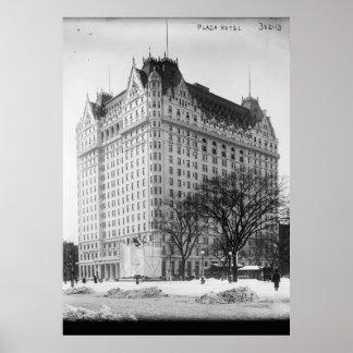 Hotel de la plaza, vintage de New York City Posters