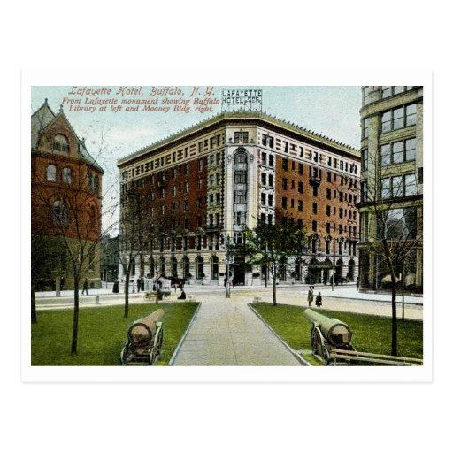 Hotel de Lafayette, búfalo, vintage 1909 de NY Tarjeta Postal