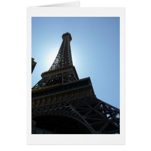 Hotel de Las Vegas París Tarjeta De Felicitación