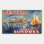 Hotel de Londres (Venezia Italia) Pegatina Rectangular