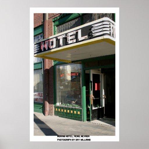 Hotel de Morris, Reno, Nevada Póster