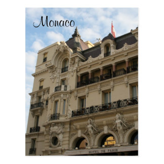 hotel de paris postcard