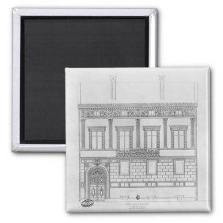 Hotel de Pourtales, facade, 1850 2 Inch Square Magnet