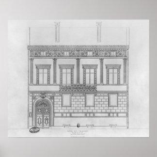 Hotel de Pourtales, facade, 1850 Poster