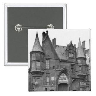 Hotel de Sens, late 19th century-early 2 Inch Square Button