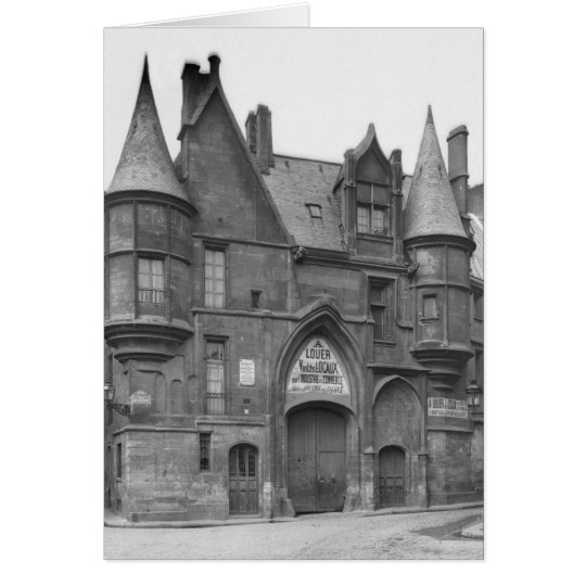 Hotel de Sens, late 19th century-early Card