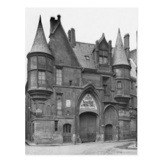 Hotel de Sens, late 19th century-early Postcard