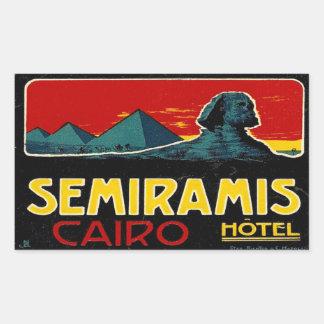 Hotel de Seramis (El Cairo Egipto) Pegatina Rectangular