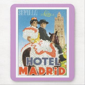 Hotel de Sevilla España del vintage Alfombrillas De Ratón