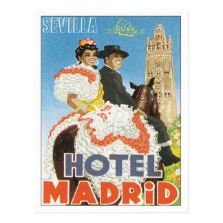 Hotel de Sevilla España del vintage Tarjetas Postales